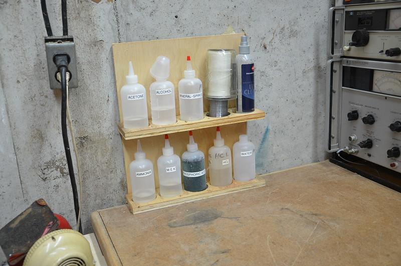 The chem rack.