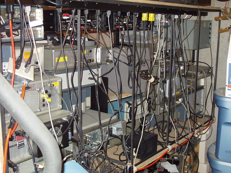 Back side of the repair bench, just a few random cords.