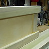 "The leg panels have 4-1/2 inch square top and bottom rails, the end pieces are 2 X 6 inches and the panel is 1/2"" thick plywood."