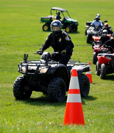 BENNINGTON POLICE HOLD ATV TRAINING COURSE. 092216