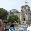 We opted  for a cruise on the River Spree to see the main highlights before planning our visit schedule.  The dome of the Reichstag is seen rising above  the main building.
