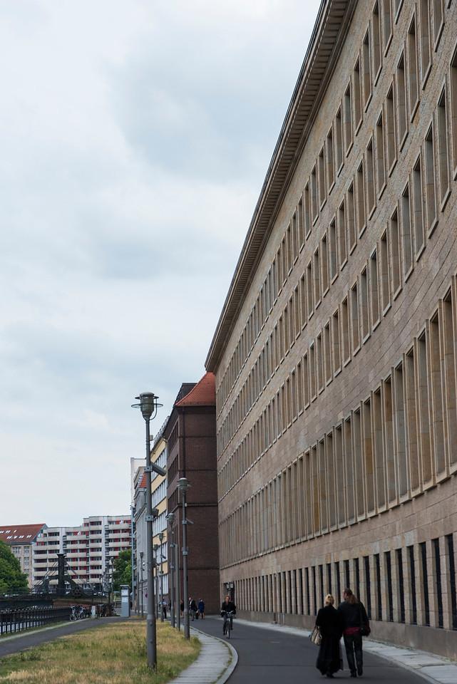 MODERN JAIL, BERLIN, ALONG THE RIVER.