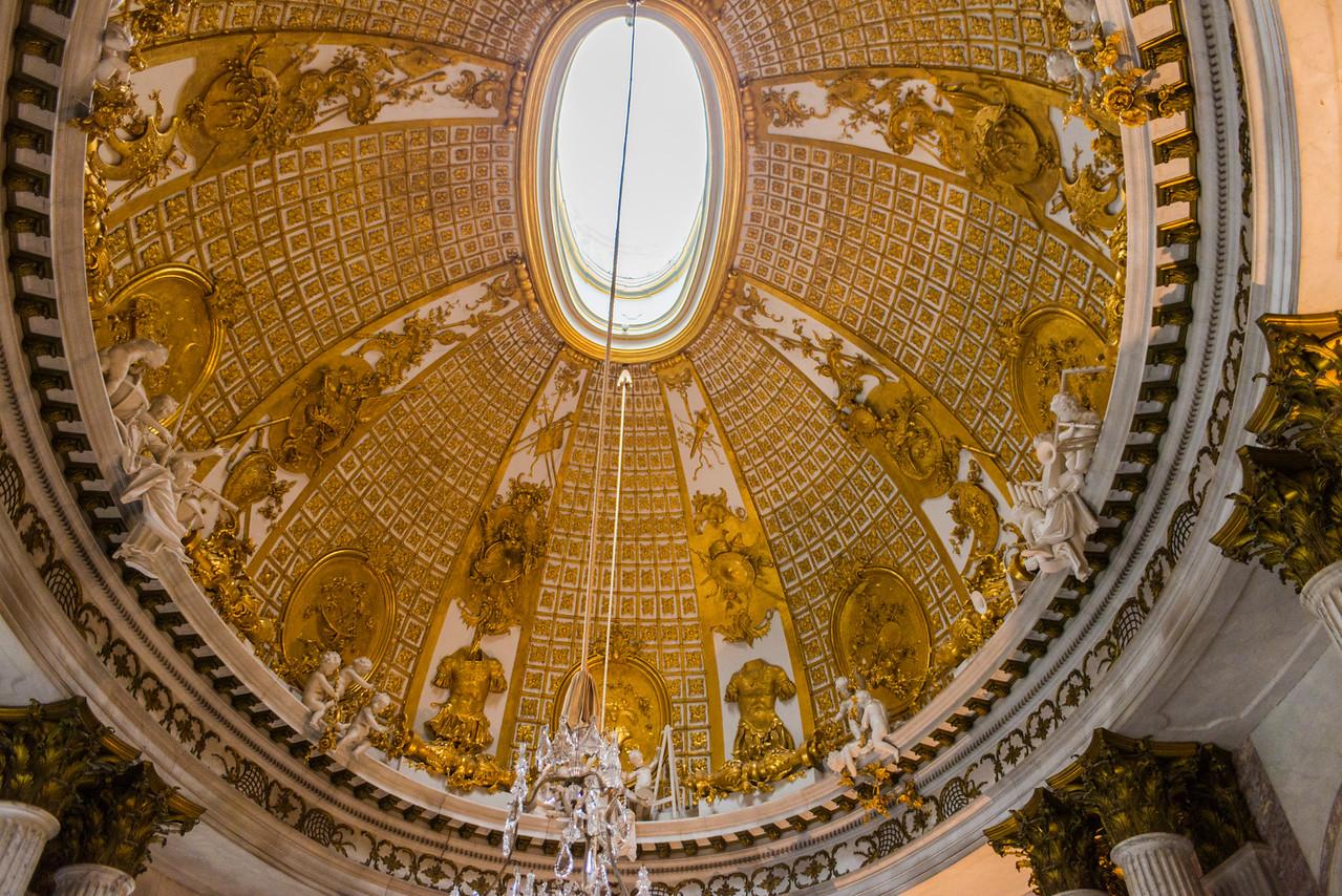 Sanssouci dome detail.