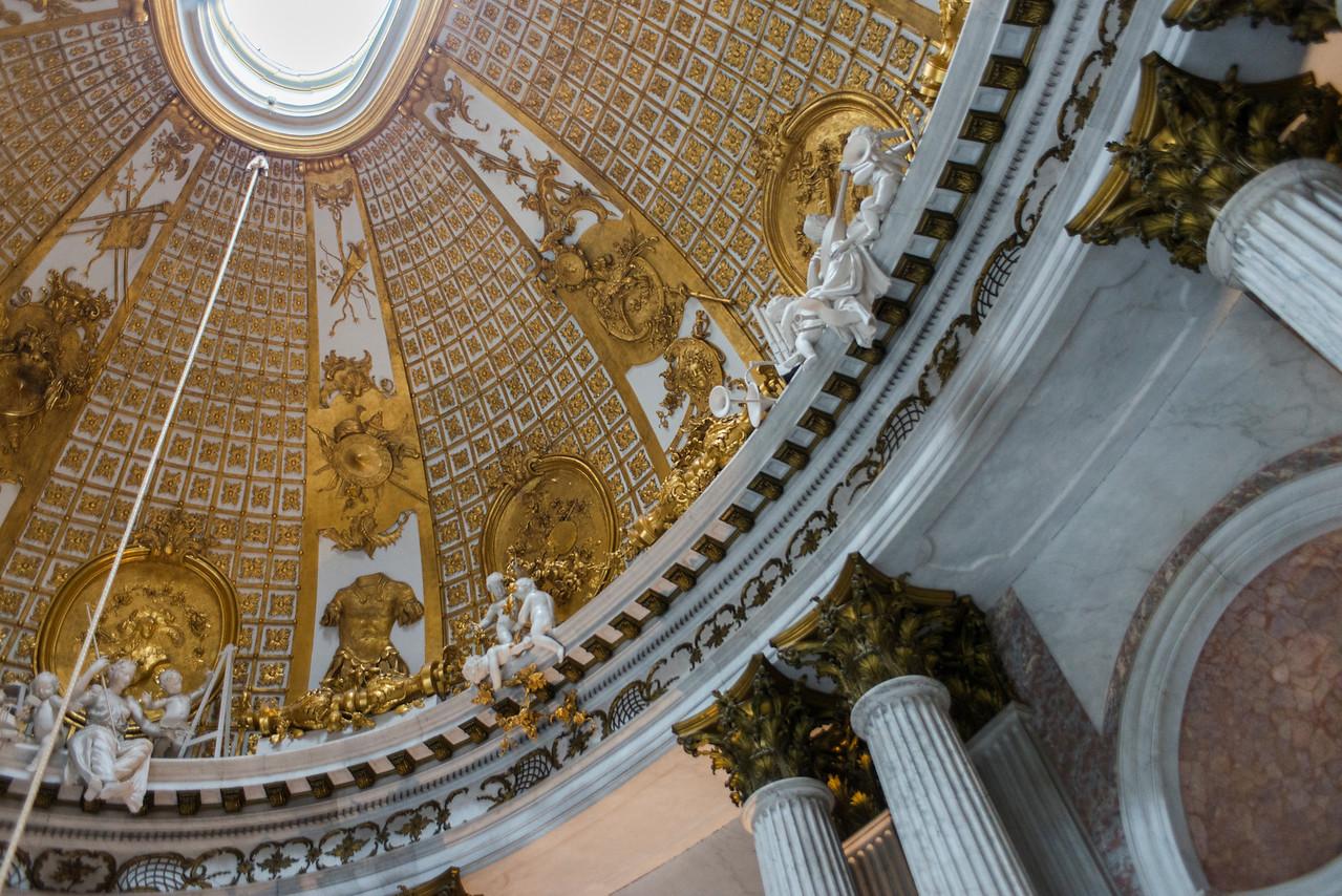 Sanssoucci dome detail.