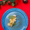 MINE WINE Scallop Carpaccio with bottarga