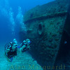 The Hermes was scuttled on 15 may 1984 as a dive site. South shore, Bermuda.