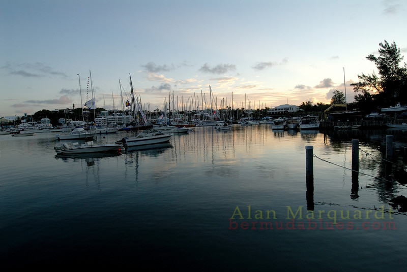 Dawn breaks over the R.H.A.D.C. Paget, Bermuda.