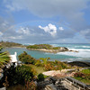 Hungry Bay, with the surf up from a passing hurricane, Paget, Bermuda.