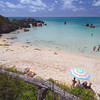The beach under Black Beards pub St. Georges, Bermuda.