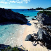 At the eastern side of Horseshoe bay beach you'll find small beaches like this. Southampton, Bermuda.