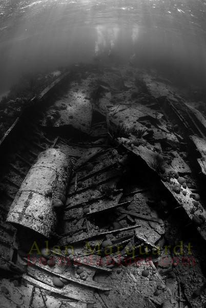 The mid-section of the shipwreck Lartington, 1879.