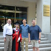 Dr. Pickett, Dr. Yu, Prof. Zhou, and Dr. Grove at Yu's graduation.
