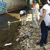 "Gwynns Falls at Carroll Park, manual ""grab"" sampling for water quality"
