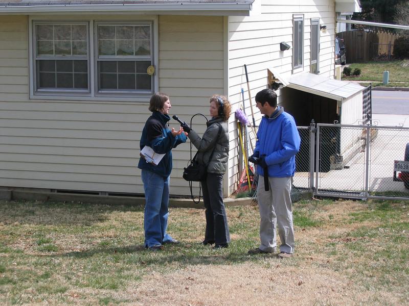 Kathleen Lojudice being interviewed.