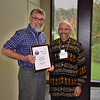 Dan Dillon (L) being presented with the 2011 Director's Award by Steward Pickett (R) at the BES Annual Meeting.