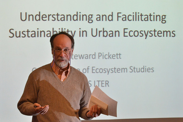 Steward Pickett and  Michael Melampy, lecture at Baldwin Wallace University 2014-April