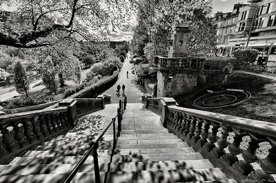 Stairs in Princes Street Gardens