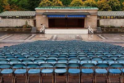 Ross Band Stand in Princes Street Gardens before redevelopment