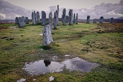Callanish stone circle in winter