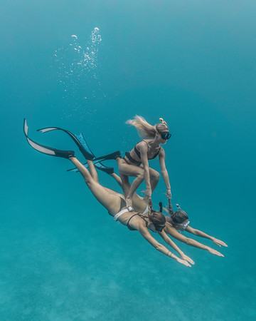 The underwater crew