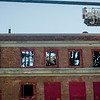 The aftermath of an overnight fire at the former BF Brown School in Fitchburg. SENTINEL & ENTERPRISE / Ashley Green
