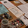 The BFP table with flyers and buttons.