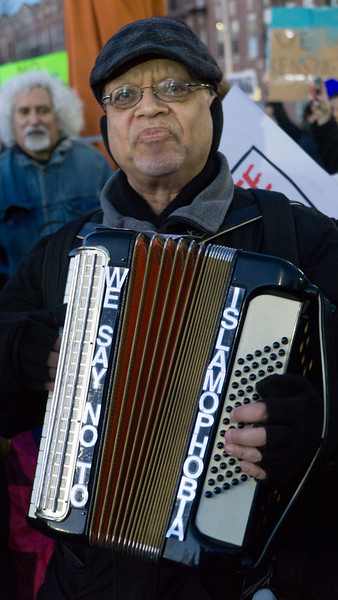 Paul Stein, the People's Accordionist, was there. He's always there when needed!