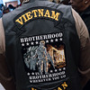 Veteran's vest at today's parade.