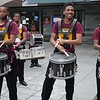 Press PLAY ►  (above) to see a short video.<br /> <br /> Wow! This great drummers corp really excited the crowds as we marched along.