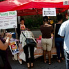 A popular destination: the BFP tablle at the 2012 Seventh Avenue Street Fair in Park Slope.
