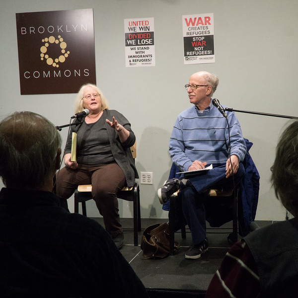 The evening's moderators: Carolyn Eisenberg and Bruce Altschuler.