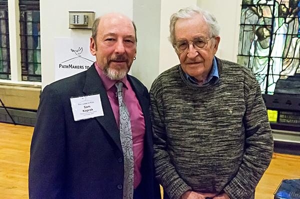BFP's Sam Koprak and Noam Chomsky.