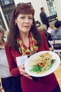 Charlene Barker, BFP Board member, savors the food at the gala dinner.