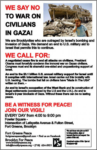Two thousand copies of this flyer have been distributed in just two days in Fort Greene.