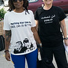 """She signed our petition. Her shirt reads """"Anything war can do, peace can do better."""""""