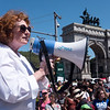Assemblymember Jo Anne Simon was the next elected official to speak. She condemned the nazis who rioted in Virginia and asked those assembled to get involved in electins to put peope in office at all levels to beat back the rising tide of hate and racism.