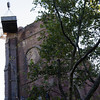 Christ Church's steeple was destroyed by lightning this summer.