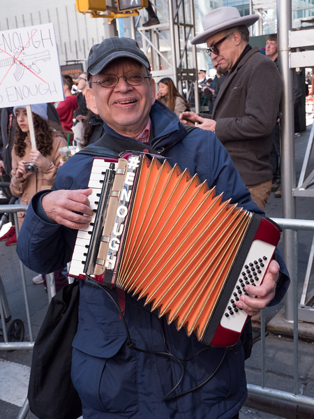 Well, well, well. If it isn't Paul Stein, the People's Accordionist. Met him playing with others at the end of the march on West 45th Street.