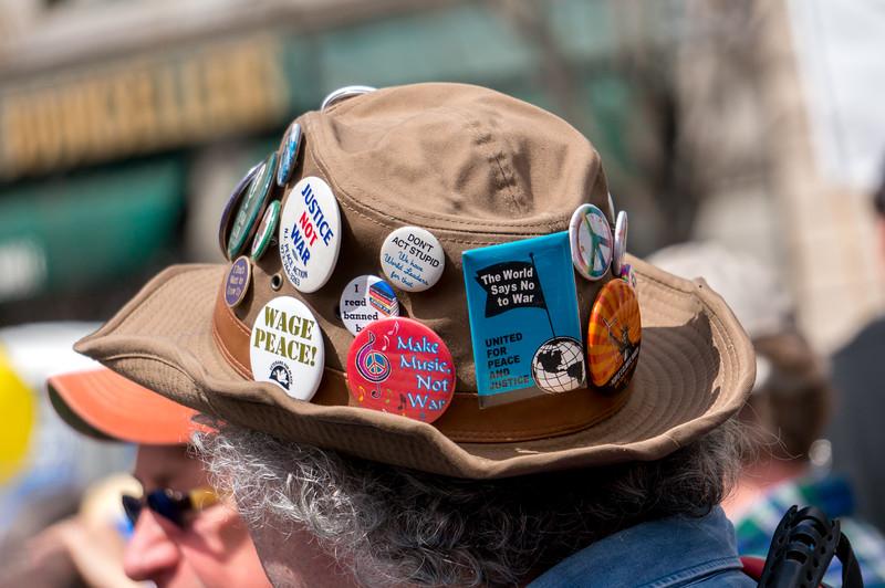 A PBH....peace button hat.