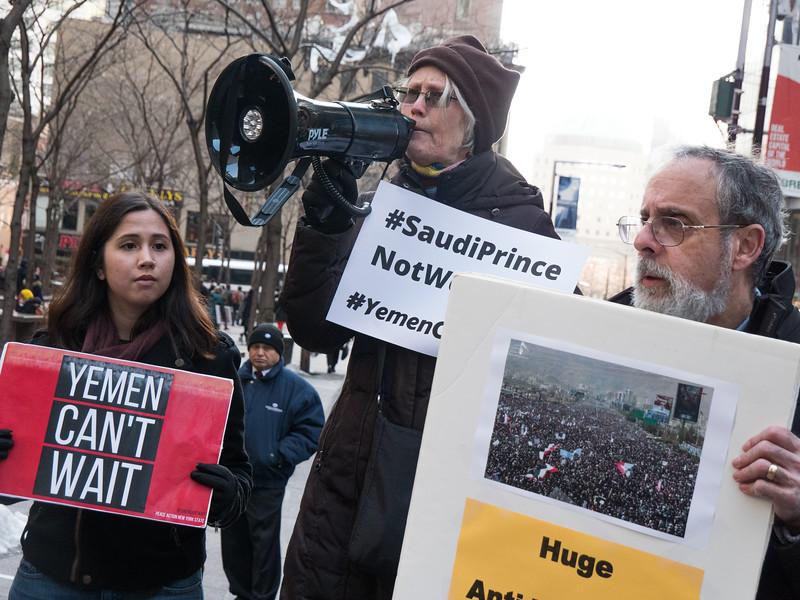 Sally Jones of Peace Action NY, addresses the rally.