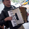 Our great people's accordionist, Paul Stein. He brought a little sunshine to a very gloomy and rainy day.
