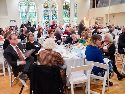 Part of the gathering for Brooklyn For Peace's 2019 PathMakers to Peace gala at Plymouth Church.