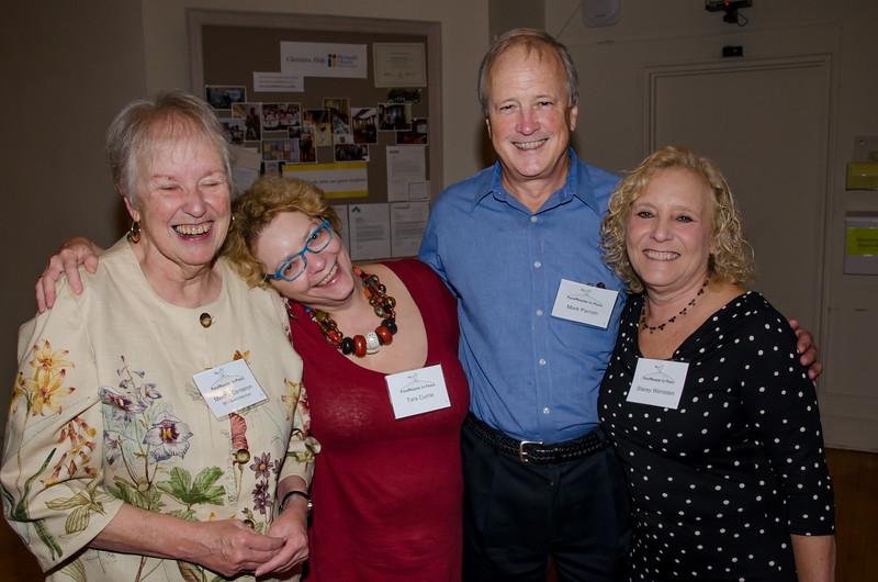 Martha, Tara, Mark and Stacey—having a good time.