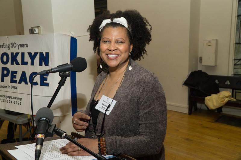The evening's moderator, BFP Vice-Chair, Veronica Nunn.