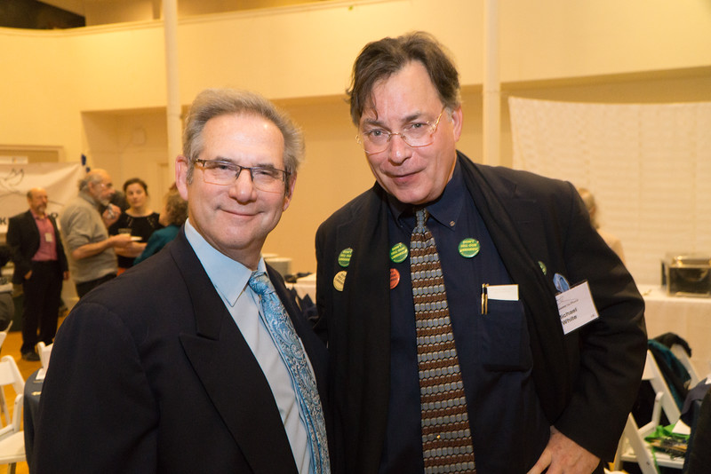 Dr. Warren Spielberg and leader of the fight against closure of libraries, Michael DD White.