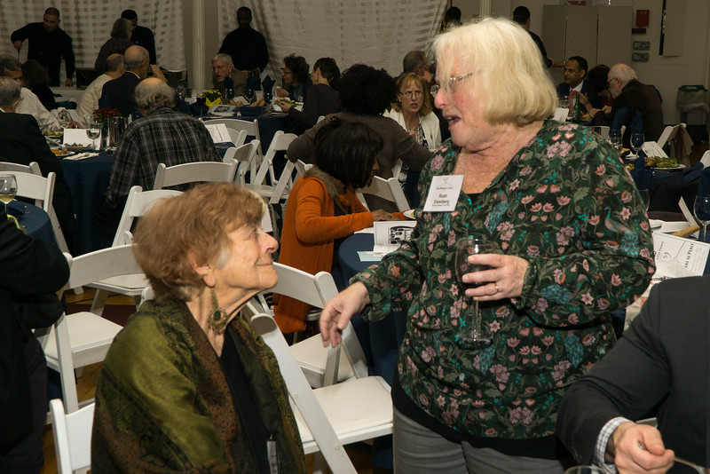 BFP Vice-Chair, Carolyn Eisenberg chatting with one of the evening's honorees, Frances Fox Pivin.