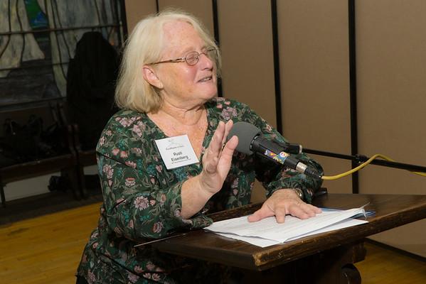 BFP Vice-Chair, Carolyn Eisenberg, sets the night's tone.