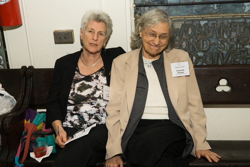 Two great activists: Lucy and Charlotte.