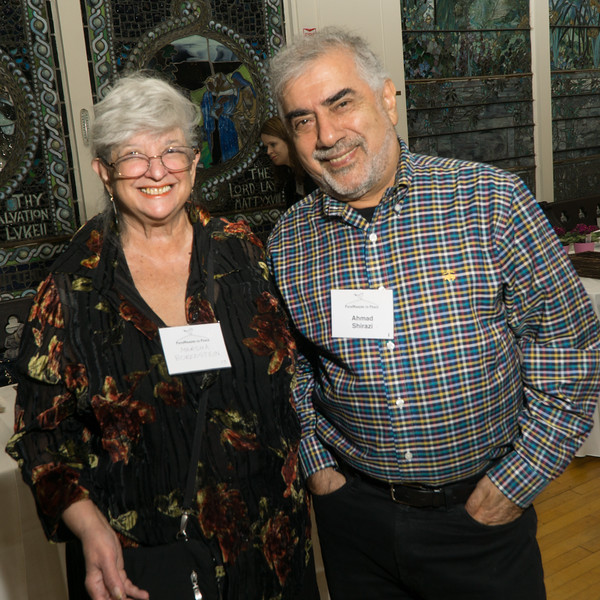 Marsha Borenstein, of the Central Brooklyn Martin Luther King Commission and our dear friend, Ahmed Shirazi, filmmaker.