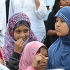 Lots of young Muslim women at today's rally.<br /> Photo by Ann Ambia.